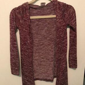 Girls maroon cardigan.
